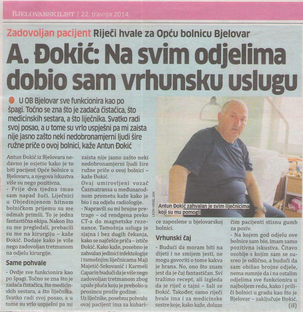 OBBJ-BjelovarskiListZadovoljanPacijent-Dokic1